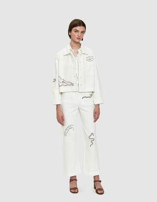 Paloma Wool Vera Linen Pant in White
