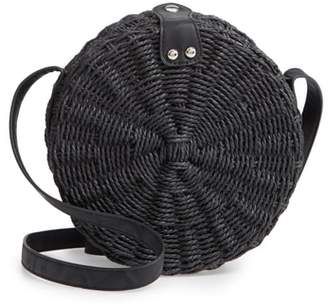 Topshop Barbar Straw Crossbody Bag
