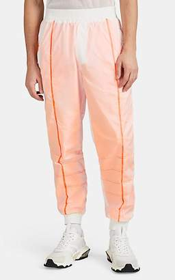 U.P.W.W. Men's Reflective Translucent Tech-Taffeta Track Pants - White