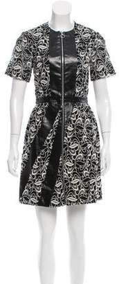 Brandon Sun Guipure Lace Sheath Dress