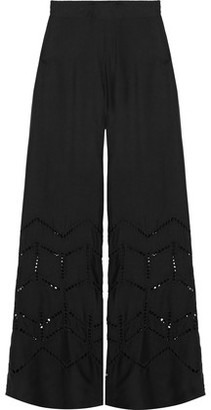 Vix Broderie Anglaise Voile Wide-Leg Pants $210 thestylecure.com