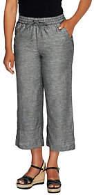 Liz Claiborne New York Petite Jackie CroppedLinen Pants