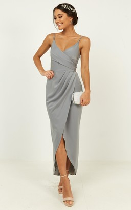 Showpo How will I know dress in dusty blue - 18 (XXXL) Bridesmaid