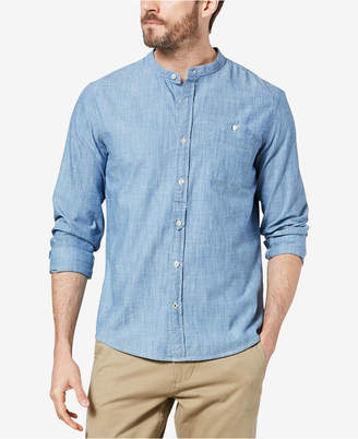 Dockers Slim-Fit Band-Collar Chambray Shirt