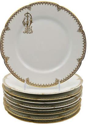 One Kings Lane Vintage Antique Limoges Porcelaine Plates - Set of 9