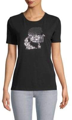Sequin Short-Sleeve Tee