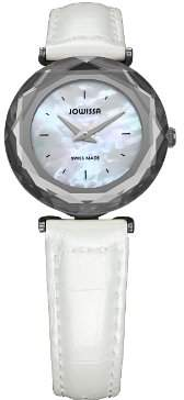 Jowissa Women's J1.001.S Safira 99 Colored Mother-of-Pearl Dial Leather Slim Watch