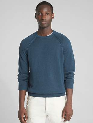 Gap Raglan Sleeve Crewneck Pullover Sweater in Linen