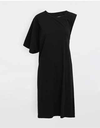 Maison Margiela Asymmetrical Jersey Midi Dress