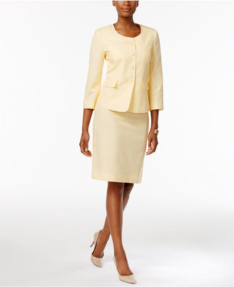Le Suit Seersucker Skirt Suit $200 thestylecure.com