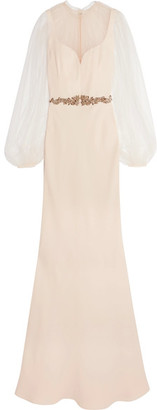 Alexander McQueen - Embellished Silk-cady And Tulle Gown - Pastel pink $6,095 thestylecure.com