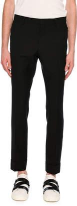 Valentino Zip-Pocket Slim-Straight Pants, Black