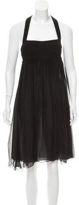 CNC Costume National Halter Knee-Length Dress