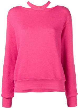 Unravel Project cutout crew neck sweatshirt