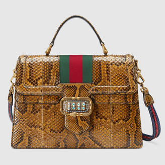 Gucci Python medium top handle bag