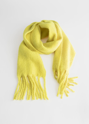 And other stories Fringed Wool Blend Blanket Scarf