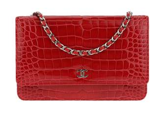 Chanel Wallet on Chain alligator crossbody bag