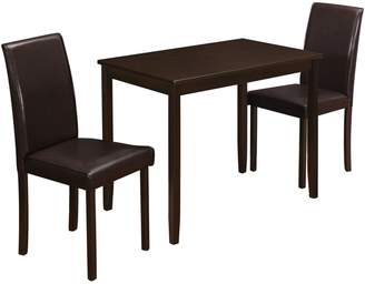 Monarch 3-Piece Table and Chair Dining Set