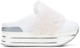 Hogan fur platform sneakers