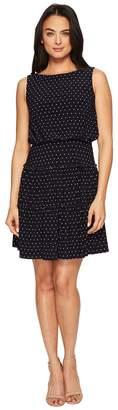 Lauren Ralph Lauren Opalina Bruni Dot Matte Jersey Dress Women's Dress