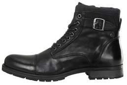 Mens Jack & Jones Leather Hiker Boots