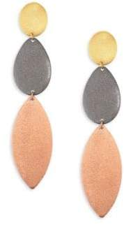 Stephanie Kantis Enchantment Tri-Tone Triple-Drop Earrings