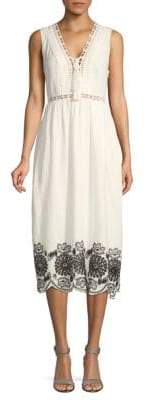 Max Studio Sleeveless Cotton Dress