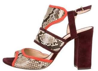 Alexandre Birman Python Strap Sandals