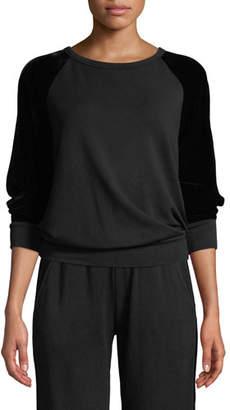 Velvet Westine Crewneck Sweatshirt with Sleeves
