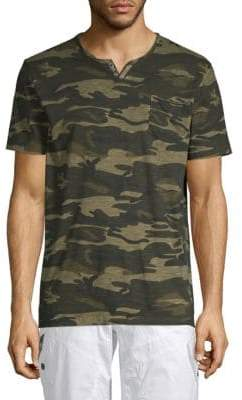 ProjekRaw Camouflage Cotton Jersey Henley