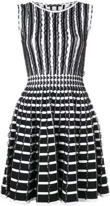 Valenti Antonino ruffle details striped dress