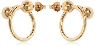 J.W.Anderson Double Ball Hoop Earrings