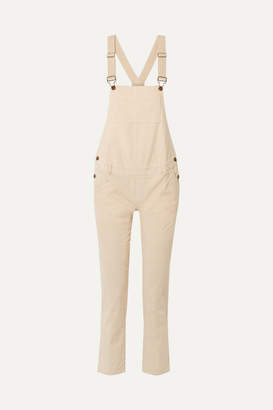 Hatch The Cord Cotton-blend Corduroy Overalls - Ivory