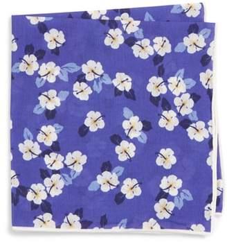 Southern Tide Hanatei Hibiscus Cotton & Silk Pocket Square