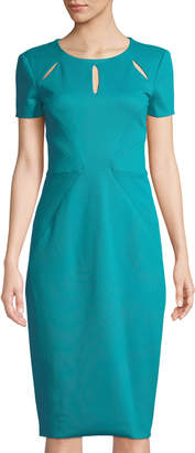 Zac Posen Slash-Detail Fitted Cocktail Dress