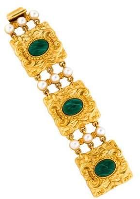Ben-Amun Ben Amun Faux Pearl & Resin Station Bracelet
