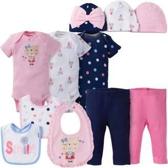 Gerber Newborn Baby Girl Perfect Baby Shower Gift Layette Set, 11-Piece