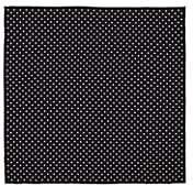 Paolo Albizzati Men's Polka Dot Silk Twill Pocket Square - Black