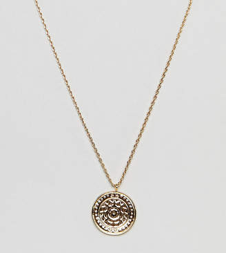 Orelia gold plated coin detail pendant necklace