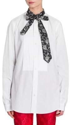 Dolce & Gabbana Poplin Neck Tie Shirt