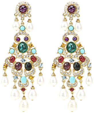 Ben-Amun Ben Amun Byzantine Pearl Chandelier Earrings