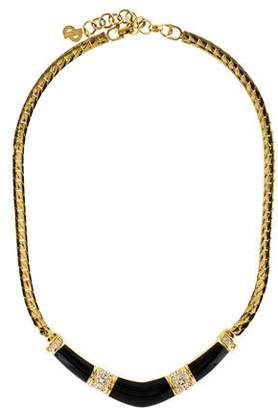 Christian Dior Crystal & Enamel Collar Necklace