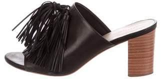 Loeffler Randall Leather Tassel Slide Sandals