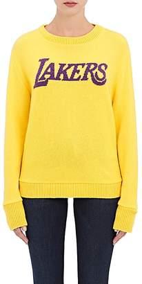 "The Elder Statesman X NBA Women's ""Lakers"" Cashmere Sweater $1,620 thestylecure.com"