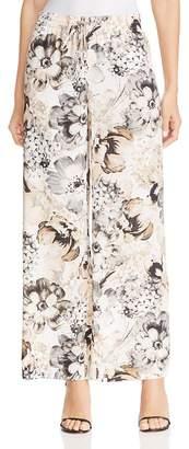 Calvin Klein Floral Print Wide Leg Pants