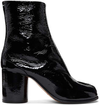 Maison Margiela Black Patent Leather Tabi Boots