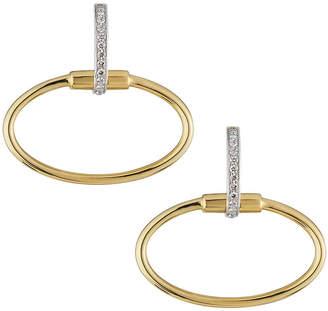 Roberto Coin 18k Classica Oval & Diamond Earrings Gold\/White