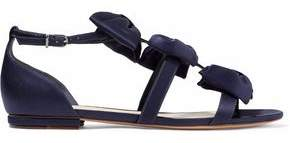 Alexandre Birman Cori Bow-Embellished Satin Sandals