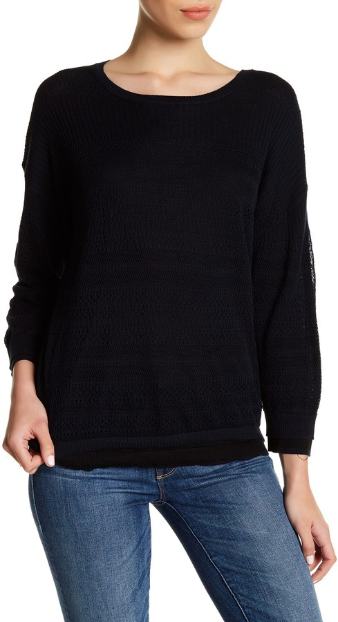 Inhabit Knit Lace Crew Neck Sweater 3