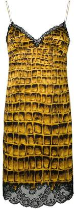 Versace crocodile scale print dress